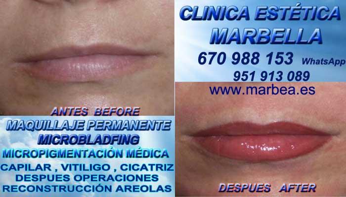 Maquillaje Permanente labios en Granada CLINICA ESTÉTICA entrega Pigmentacion labios 3D en Marbella y en Granada