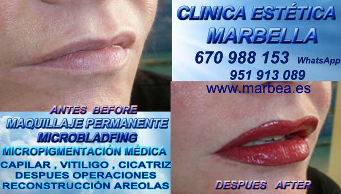 Maquillaje Permanente labios en Motril CLINICA ESTÉTICA ofrece Tatuaje labios 3D Marbella y Motril