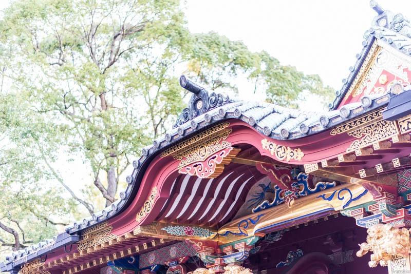 根津神社 屋根