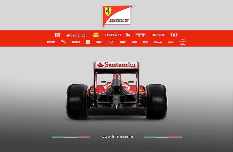 フェラーリ F14T 後ろ