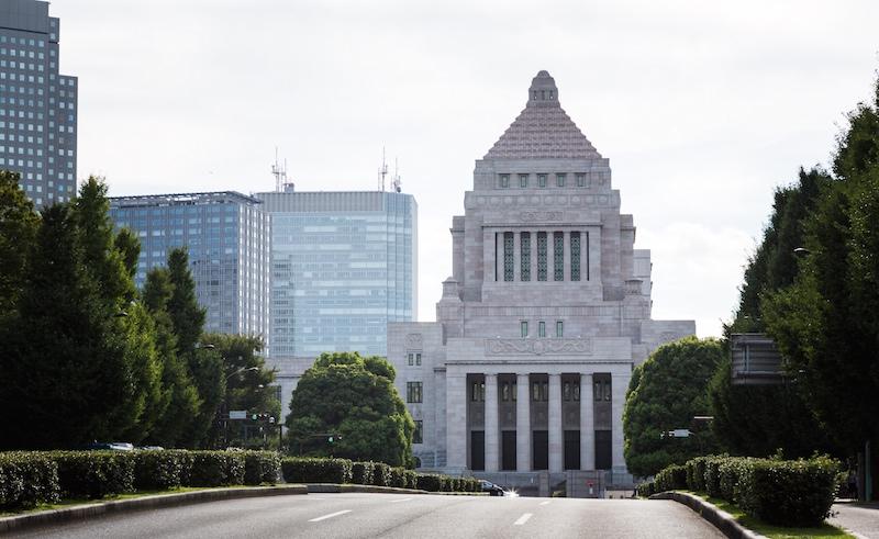 国会議事堂前の道路