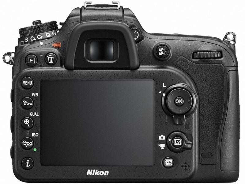 Nikon D7200 背面
