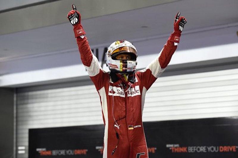 フェラーリ:今季初のダブル表彰台 : F1シンガポールGP