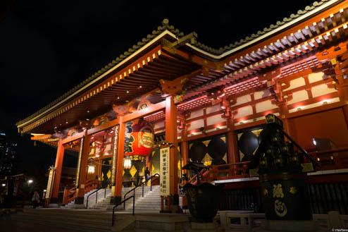 浅草寺の夜景