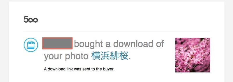 売れた写真