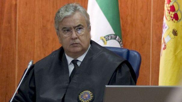 El presidente del tribunal del 'caso Malaya', José Godino, en octubre de 2013, poco antes de dar a conocer la sentencia