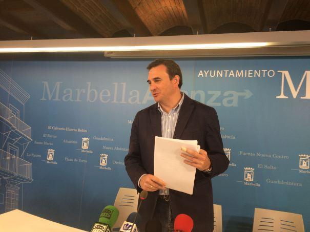 El portavoz del equipo de gobierno, Félix Romero, este martes en rueda de prensa