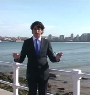 El conocido militante del PP Asturiano becado por el Ayuntamiento de Marbella, Pablo Álvarez Meana, en uno de sus vídeos promocionales de 2012