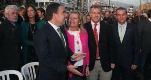 El presidente del PP de Málaga, Elías Bendodo, junto a la exalcaldesa de Marbella, Ángeles Muñoz, y los alcaldes de Estepona y Benahavís, García Urbano y Mena en imagen de archivo. Foto/ J.C.Villanueva