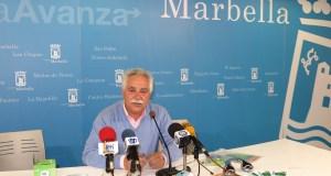 El exconcejal del PP Antonio Espada, en imagen de archivo durante una rueda de prensa de su delegación