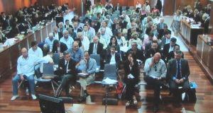 Imagen de una de las sesiones del juicio oral por el 'caso Malaya' celebrado en la Audiencia de Málaga. Foto/ Europa Press.