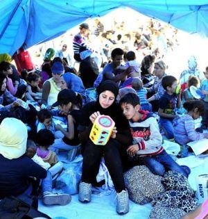 Imagen de un campamento de refugiados en Hungría difundida por Unicef.