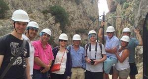 Responsables de productoras extranjeras durante una visita guiada por la provincia. Foto/ Europa Press