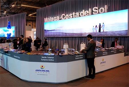Imagen del stand promocional de la Costa del Sol en la última edición de FITUR 2015