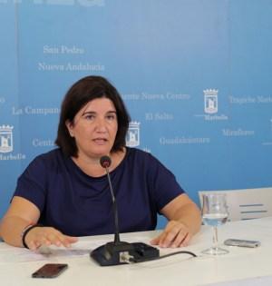La primera teniente de alcalde y delegada de Obras, Blanca Fernández, en imagen de archivo. Foto/ MARBELLA IMAGEN
