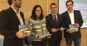 De izqda a drcha Javier Lima, Isabel Pérez, José Bernal y Miguel Díaz, durante la presentación del Plan Estratégico de Marbella. Foto/ Marcel Vidal