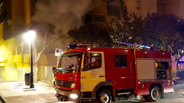 Imagen del incendio facilitada por vecinos a Marbella 24 Horas