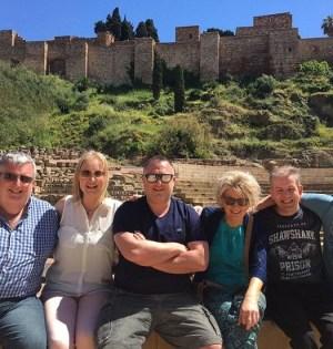Famtrip de Aerlingus y Travel Solutions, junto al Teatro Romano