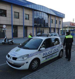 Imagen de archivo de agentes de la Policía Local de Marbella. FOTO/ MARBELLA CONFIDENCIAL