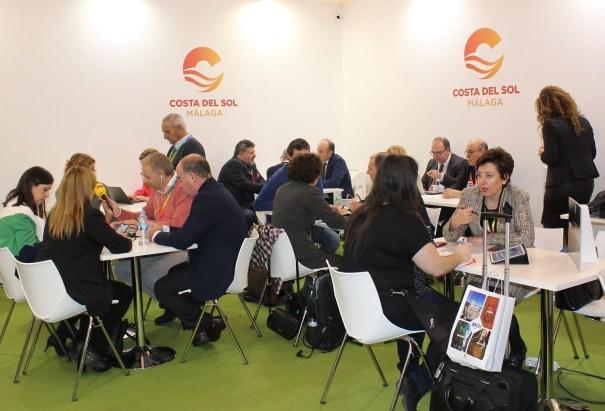 Imagen del stand de Turismo Costa del Sol en la última edición de Fitur. FOTO/ Diputación de Málaga