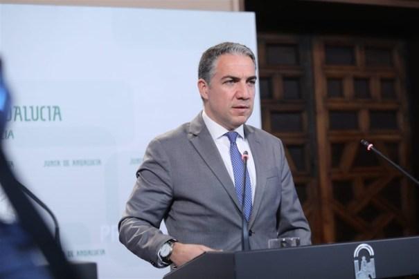 El consejero de Presidencia y portavoz de la Junta, Elías Bendodo, en una imagen reciente. FOTO/ Junta