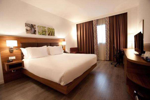 Interior de una de las habitaciones del Hotel Hilton Garden Inn de Málaga. FOTO/ MC
