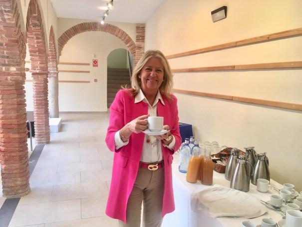 La alcaldesa de Marbella, Ángeles Muñoz, este jueves en el desayuno informativo que ha mantenido con los medios de comunicación. FOTO/ CABANILLAS