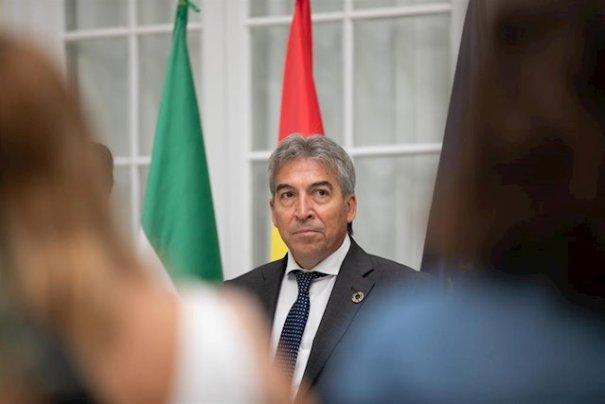 El delegado del Gobierno en Andalucía, Lucrecio Fernández, este miércoles en Sevilla. FOTO/ Jesús Prieto -Europa Press