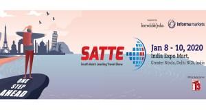 Cartel anunciador de la Feria SATTE en India, a la que acude la Costa del Sol