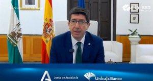 El consejero de Turismo y vicepresidente de la Junta de Andalucía, Juan Marín, durante su intervención en la SER este lunes
