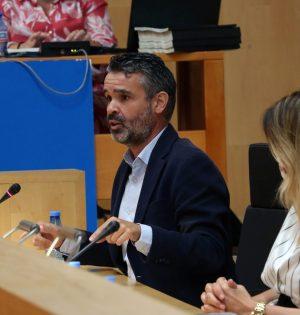 El portavoz del PSOE en la Diputación de Málaga, Pepe Bernal, este miércoles durante una de sus intervenciones. FOTO/ PSOE