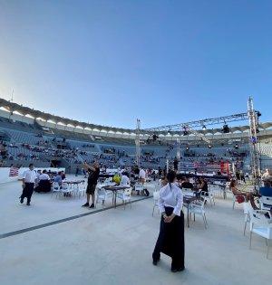 Imagen panorámica del Marbella Arena antes de la velada de boxeo celebrada el pasado 8 de agosto. FOTO/ Twitter @7TVMarbella