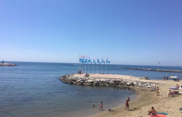 Imagen de una parte de la playa de El Faro el pasado 26 de agosto de 2020. FOTO/ CABANILLAS