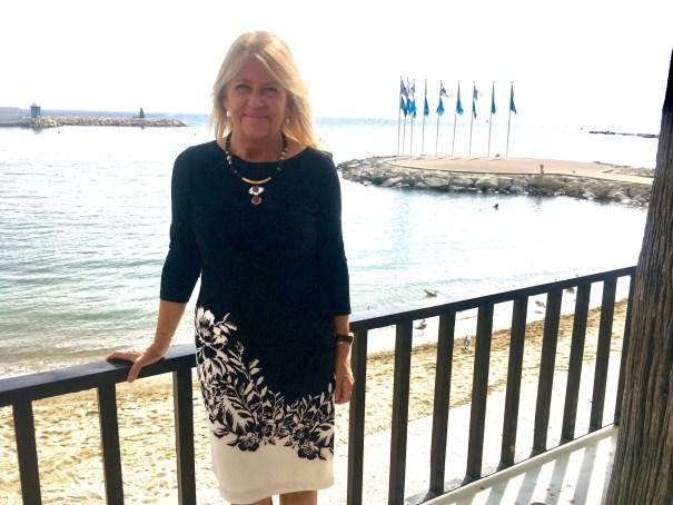 La alcaldesa de Marbella , Ángeles Muñoz, tras la entrevista con Marbella Confidencial. FOTO/ CABANILLAS