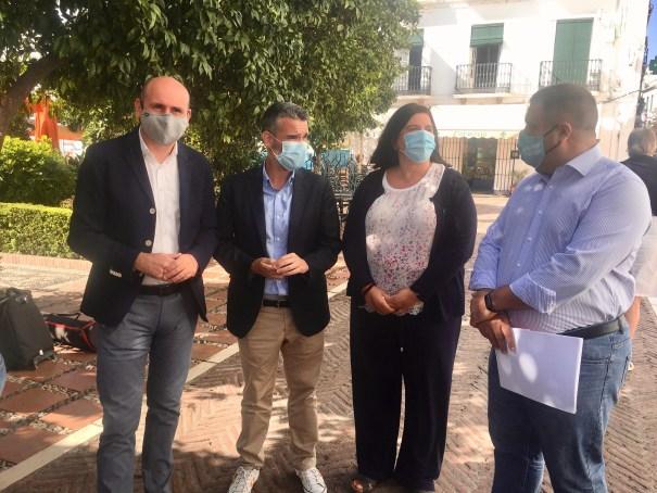 De izqda a drcha Francisco Conejo, Pepe Bernal, Blanca Fernández y Manuel Morales este martes en Marbella. FOTO/ CABANILLAS