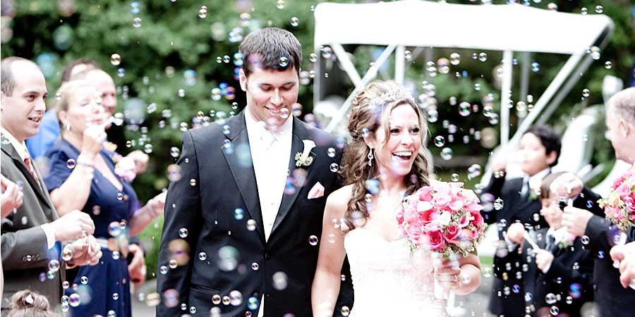 Bride And Groom Wedding Bubbles