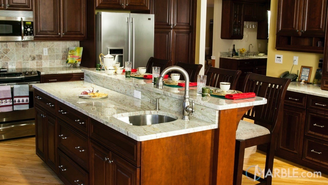 Top 5 Kitchen Countertop Choices for Dark Cabinets ... on Dark Granite Countertops With Dark Cabinets  id=93613