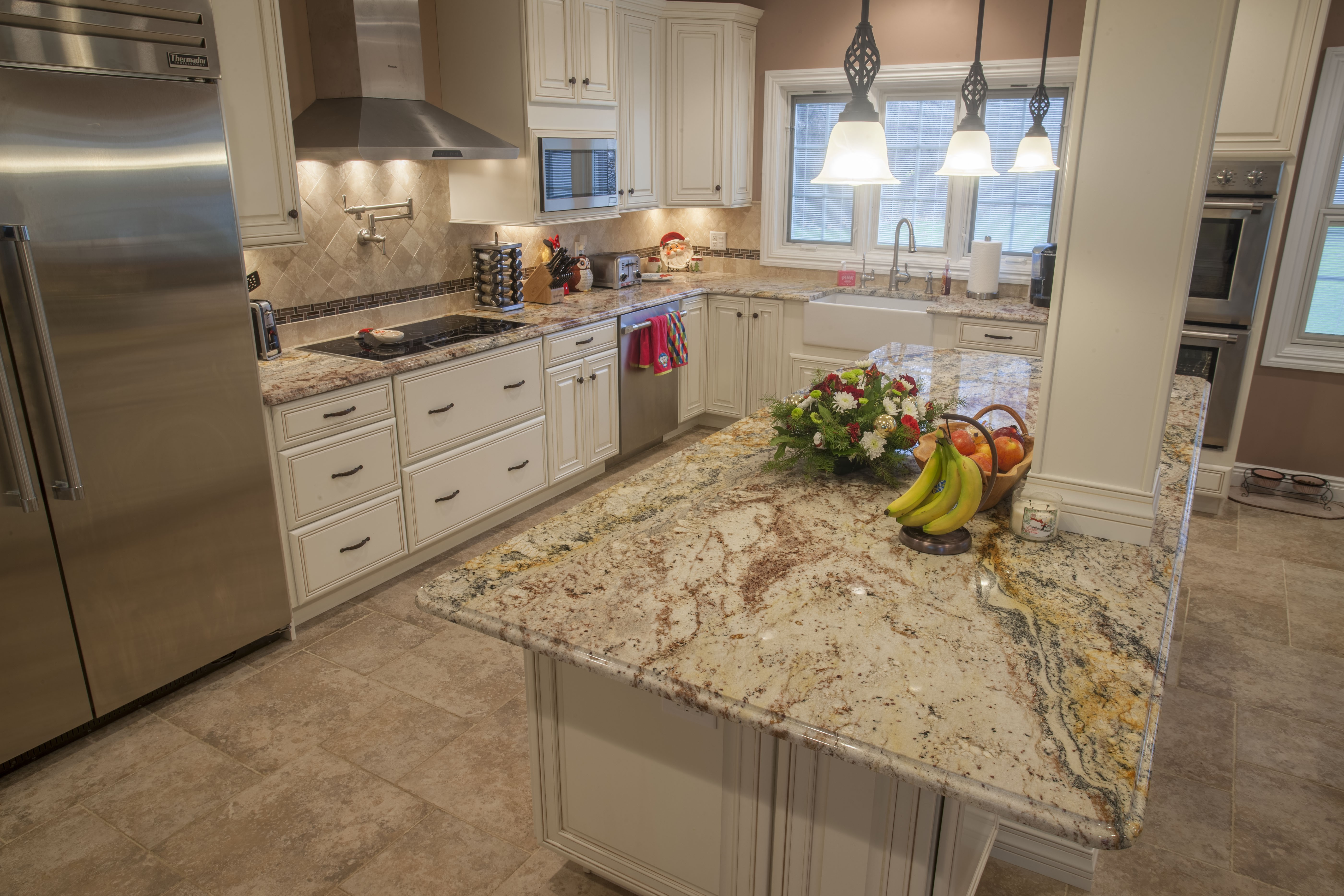 Top 5 Light Color Granite Countertops | Marble.com on What Color Cabinets With Black Granite Countertops  id=53461