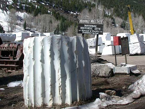 Marble Blocks in Marble, CO near the Symposium site.