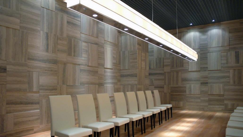 Luxury Room Silver Travertine Walls Cladding Interiors Design