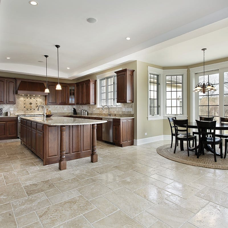 ivory travertine tile collection