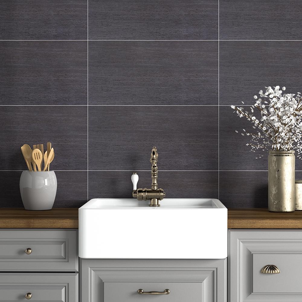 carbonio matte porcelain tiles 12x24