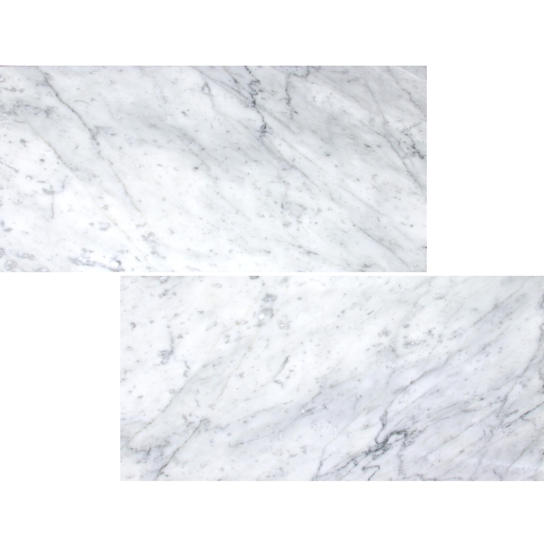 mwm656 white carrara polished marble tile 12x24