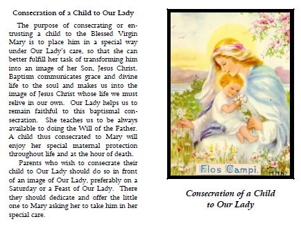 Consecration of a Child to Our Lady