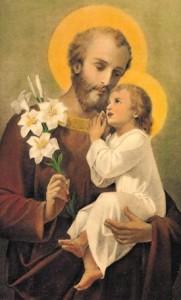 Image of St. Joseph and small Child Jesus