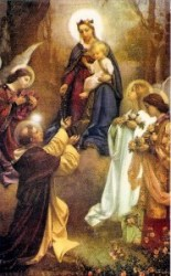 Our Lady gives the Rosary to St. Dominic