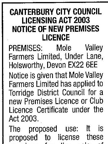 Licensing Application