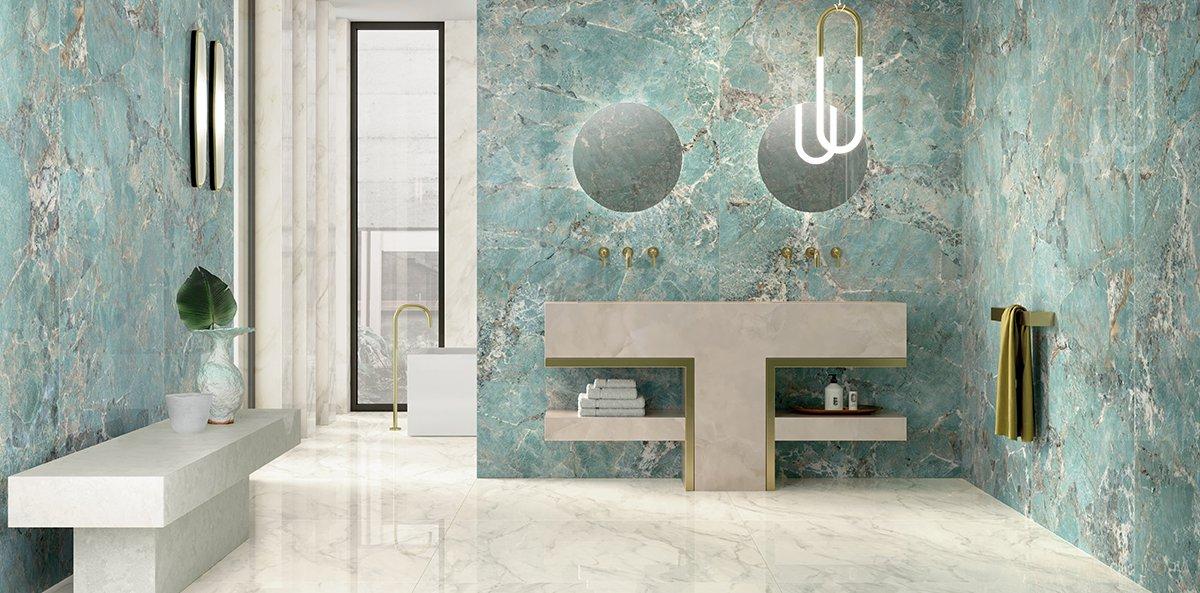 marble effect ceramic tiles foyer royal