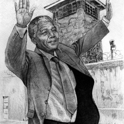 Robben Island Revisited, pencil on paper, 17cm by 14.5cm. (2013)