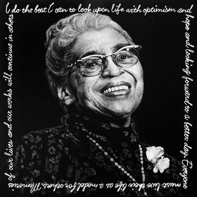 Rosa Parks, Oil and Steel Wire on Board, 100cm by 100cm. (2012)